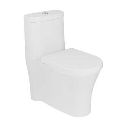 Morar Siphonic Jets Dual Flush Elongated One-Piece Toilet