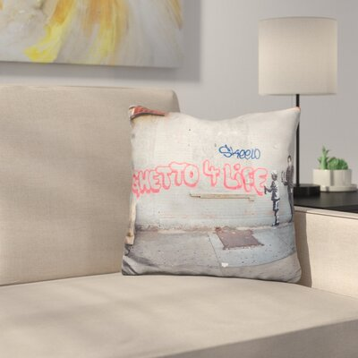 Ghetto for Life Throw Pillow