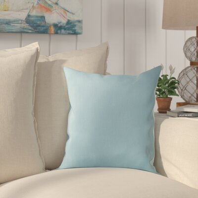 Chichester 100% Cotton Throw Pillow Color: Aqua, Size: 20