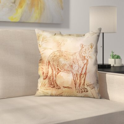 Vintage Animal Color 5 Throw Pillow Size: 14 x 14