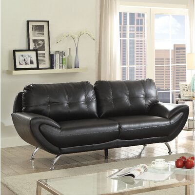 Diez Contemporary Sofa Upholstery: Black