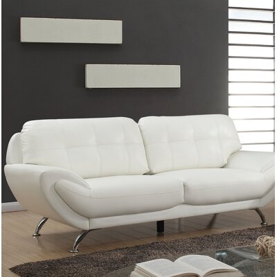 Diez Contemporary Sofa Upholstery: White