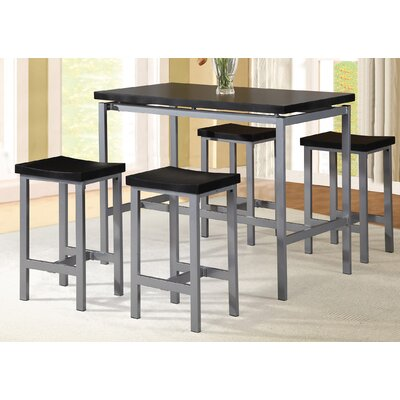 Mysliwiec 5 Piece Counter Height Breakfast Nook Dining Set