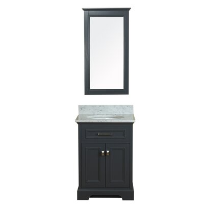 Coston 25 Single Bathroom Vanity Set Base Finish: Gray