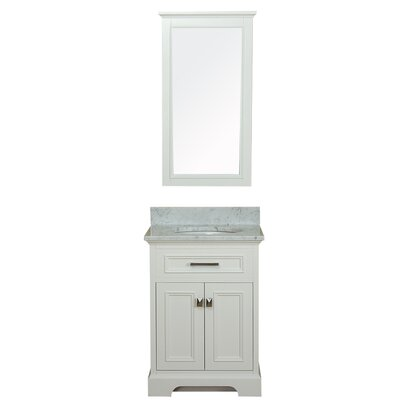 Coston 25 Single Bathroom Vanity Set Base Finish: Linen White