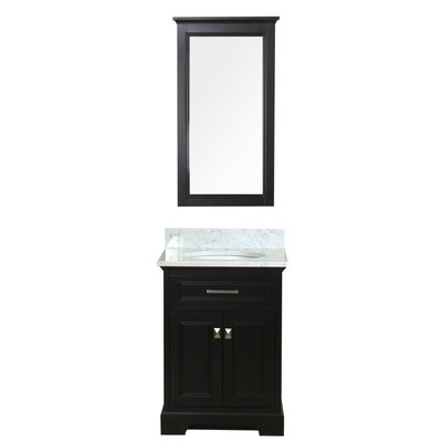 Coston 25 Single Bathroom Vanity Set with Mirror Base Finish: Espresso