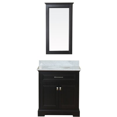 Coston 31 Single Bathroom Vanity Set with Mirror Base Finish: Espresso