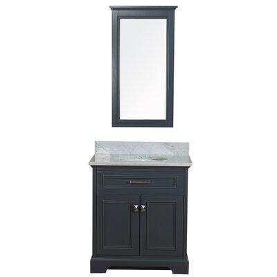 Coston 31 Single Bathroom Vanity Set with Mirror Base Finish: Gray