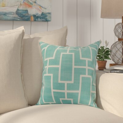 Cawley Lattice Geometric Print Indoor/Outdoor Throw Pillow Color: Blue, Size: 20 x 20