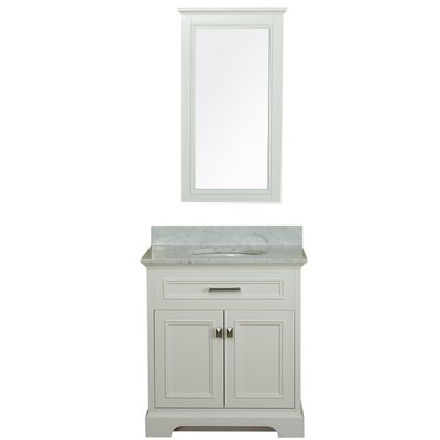 Coston 31 Single Bathroom Vanity Set with Mirror Base Finish: Linen White