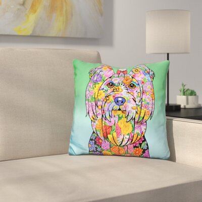 Yorkie Showcut Throw Pillow