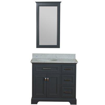 Coston 37 Single Bathroom Vanity Set Base Finish: Gray