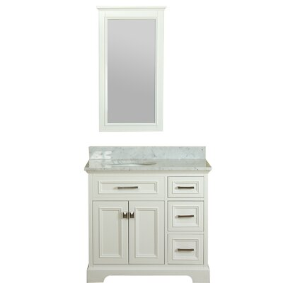 Coston 37 Single Bathroom Vanity Set Base Finish: Linen White