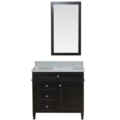 Costillo 36 Single Bathroom Vanity Set with Mirror Base Finish: Espresso