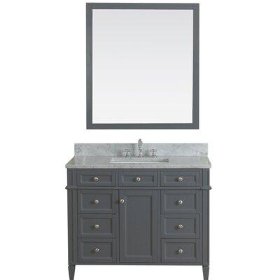 Costillo 42 Single Bathroom Vanity Set Base Finish: Gray