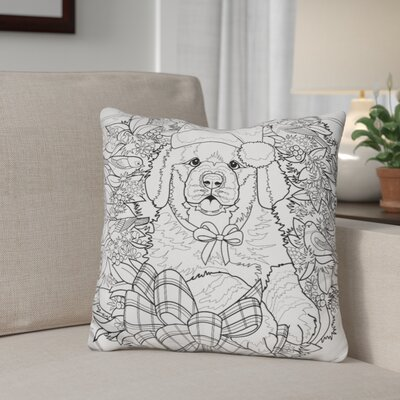 Berkey Christmas Cuties Throw Pillow Color: Black/White