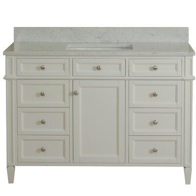 Costillo 42 Single Bathroom Vanity Set Base Finish: Linen White