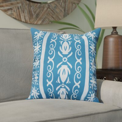 Crisler Geometric Print Indoor/Outdoor Throw Pillow Color: Teal, Size: 18 x 18