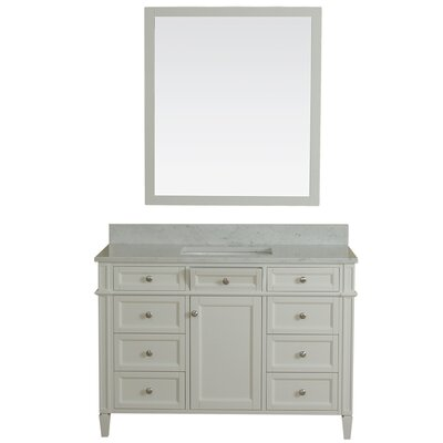 Costillo 48 Single Bathroom Vanity Set Base Finish: Linen White