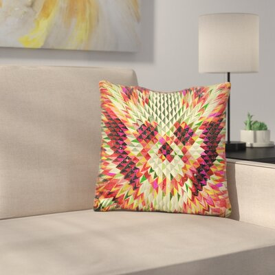 Geo Skull Sq Throw Pillow