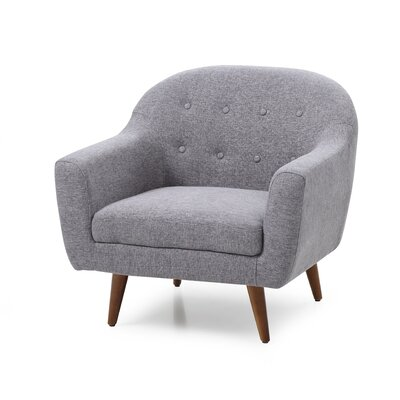 Cate Barrel Chair Upholstery: Gray
