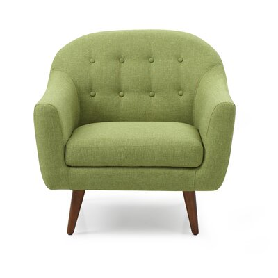 Cate Barrel Chair Upholstery: Green