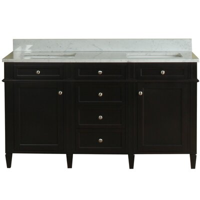 Costillo 60 Double Bathroom Vanity Set Base Finish: Espresso
