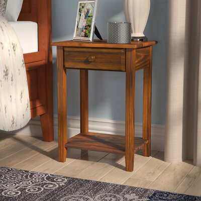 Andress 1 Drawer Nightstand Color: White