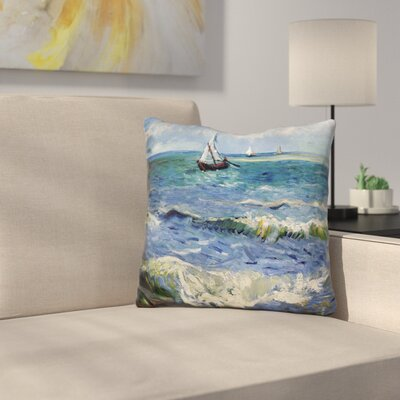Seascape Near Les Saintes Marie Throw Pillow