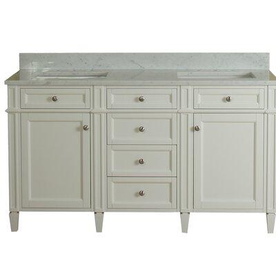 Costillo 60 Double Bathroom Vanity Set Base Finish: Linen White