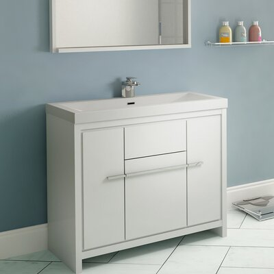 Garett Modern 36 Single Bathroom Vanity Set Base Finish: White