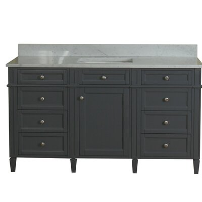 Costillo 60 Single Bathroom Vanity Set Base Finish: Gray