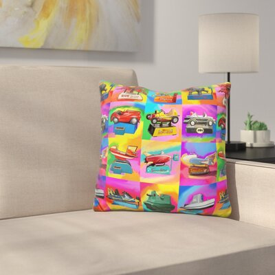Kiddie Rides Throw Pillow