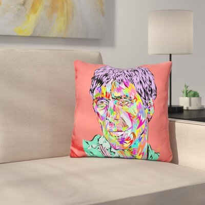 Scare Face Throw Pillow