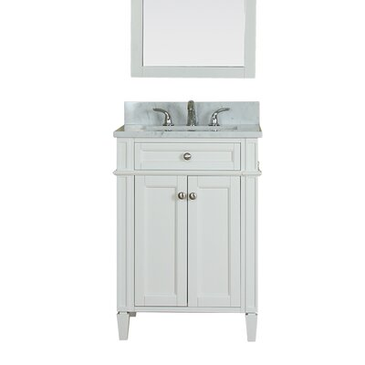 Costillo 24 Single Bathroom Vanity Set Base Finish: White