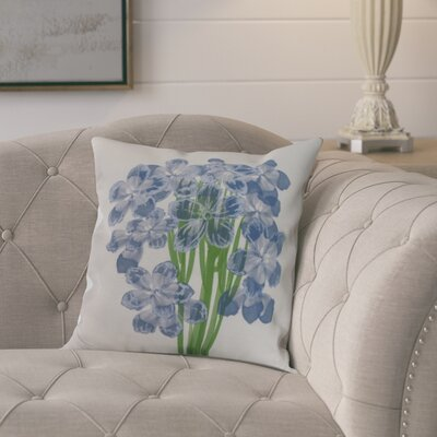 Dever Floral Print Indoor/Outdoor Throw Pillow Color: Blue, Size: 16 x 16