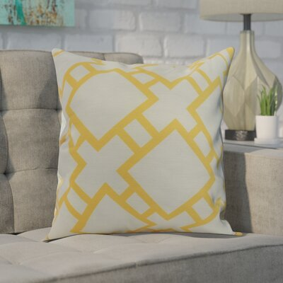 Gerken Indoor/Outdoor Throw Pillow Color: Yellow, Size: 20 x 20