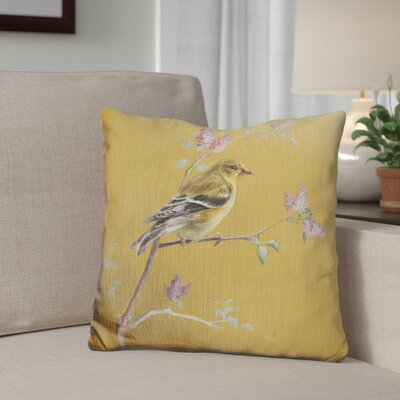 Gingrich Female Finch Throw Pillow