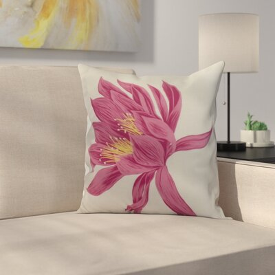 Meekins Floral Print Indoor/Outdoor Throw Pillow Color: Pink, Size: 20 x 20