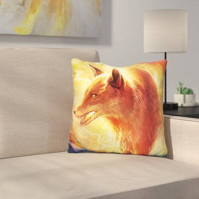 Fire Fox Throw Pillow