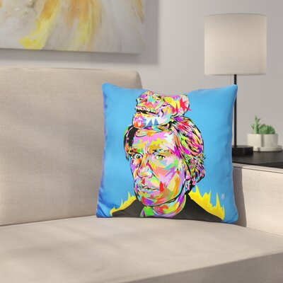 Warhol Skull Throw Pillow
