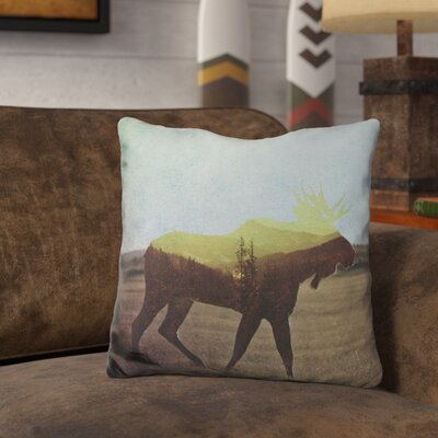 Leonia Moose Throw Pillow