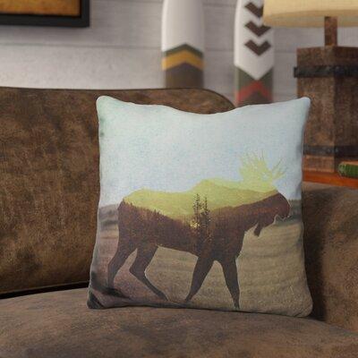 Leonia Moose Throw Pillow