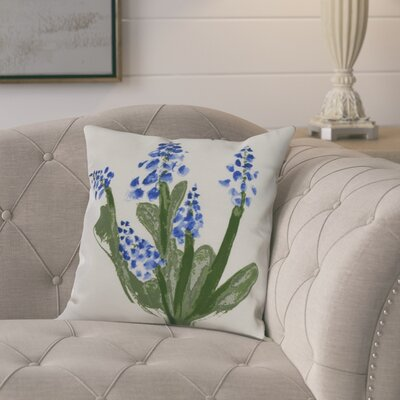 Kaylor Bluebell Indoor/Outdoor Throw Pillow Color: Blue, Size: 20 x 20