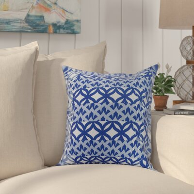 Crider Simple Geometric Print Indoor/Outdoor Throw Pillow Color: Royal Blue, Size: 18 x 18