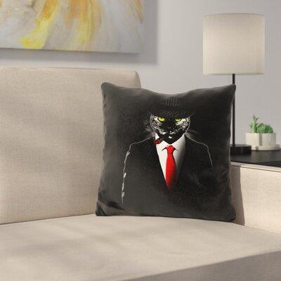 Mobster Cat Throw Pillow