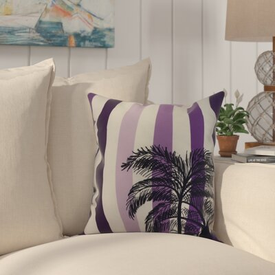 Kichler Stripe Palm Indoor/Outdoor Throw Pillow Color: Purple, Size: 20 x 20