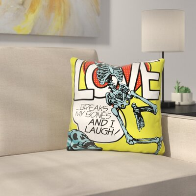 Breaks My Bones Throw Pillow