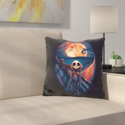 The Scream Before Christmas Throw Pillow Color: Black/Yellow