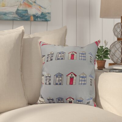 Crider Multi Beach Hut Stripe Print Indoor/Outdoor Throw Pillow Color: Blue, Size: 18 x 18